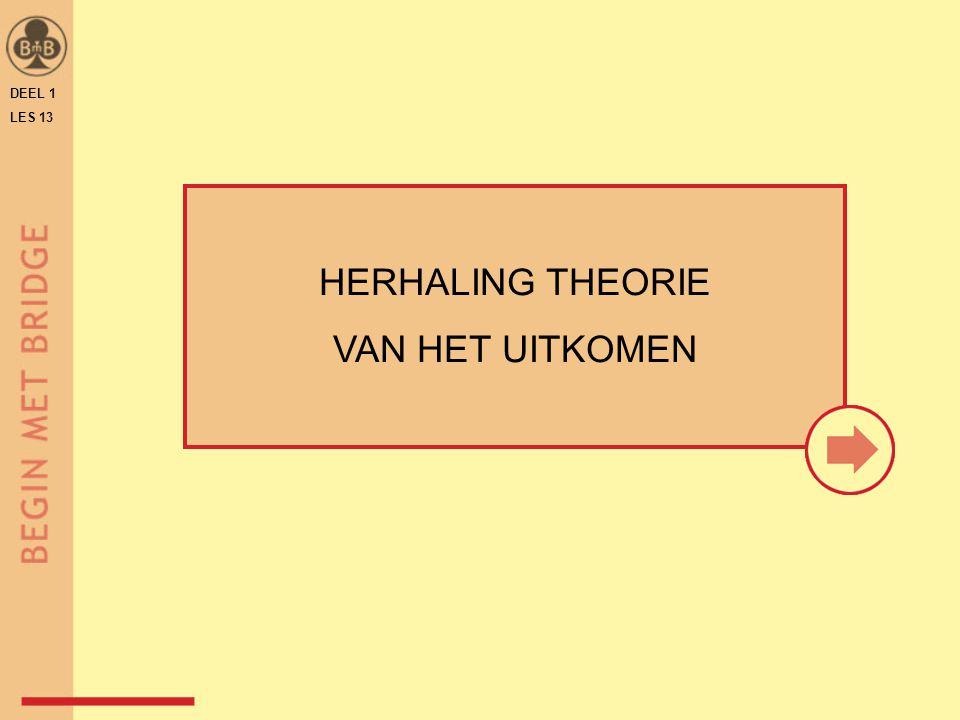 DEEL 1 LES 13 HERHALING THEORIE VAN HET UITKOMEN
