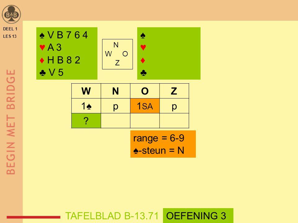 ♠ V B 7 6 4 ♥ A 3 ♦ H B 8 2 ♣ V 5 ♠ ♥ ♦ ♣ W N O Z 1♠ p 1SA