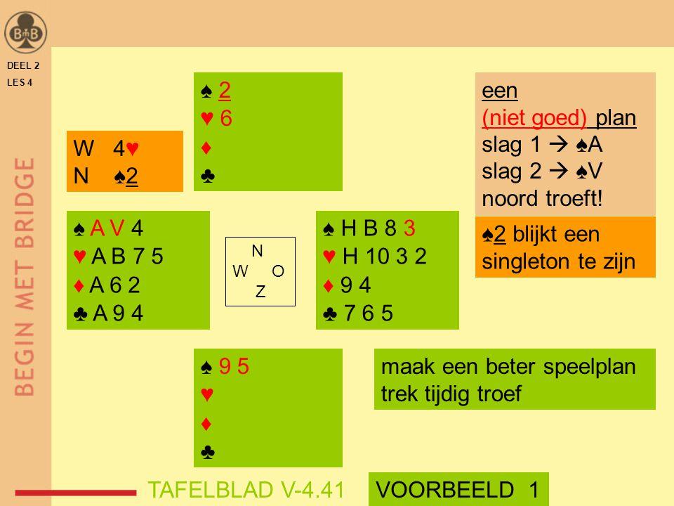 ♠2 blijkt een singleton te zijn