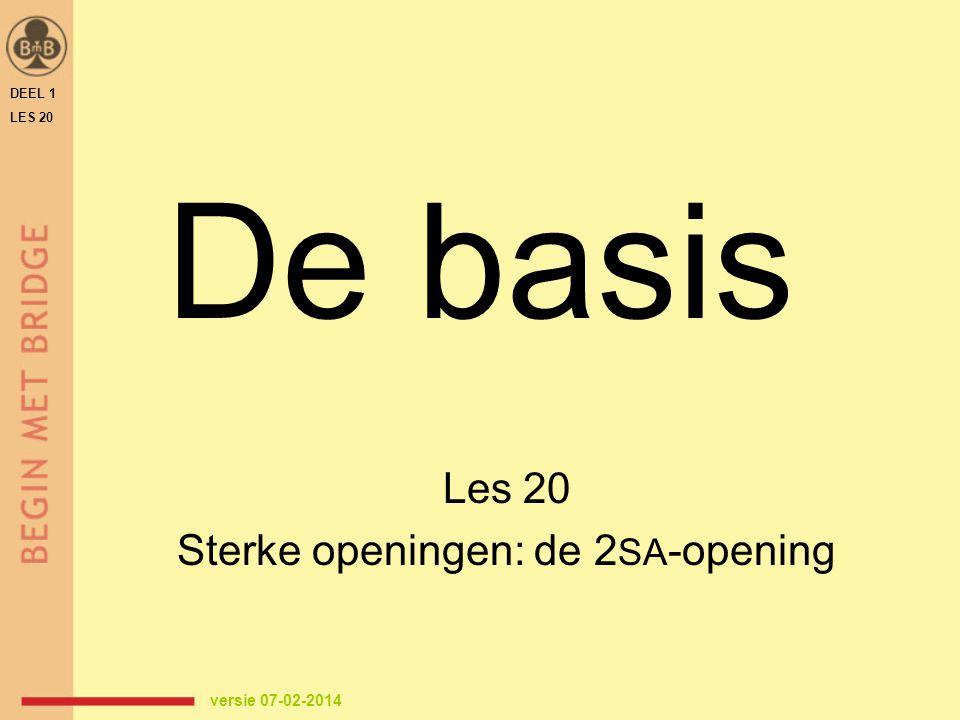Les 20 Sterke openingen: de 2SA-opening