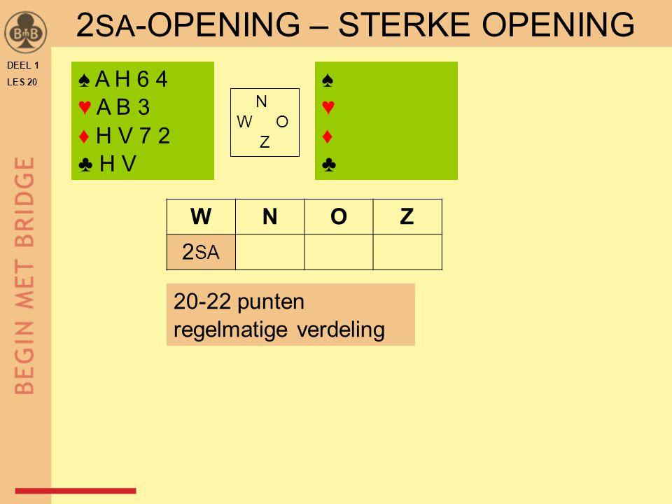2SA-OPENING – STERKE OPENING
