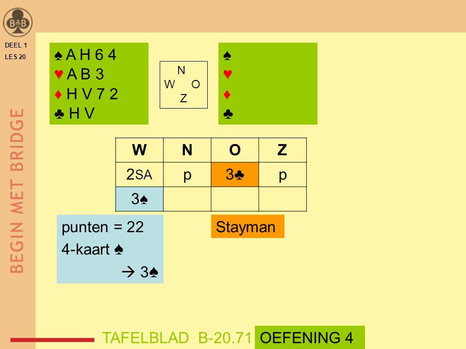 ♠ A H 6 4 ♥ A B 3 ♦ H V 7 2 ♣ H V ♠ ♥ ♦ ♣ W N O Z 2SA p 3♣ 3♠