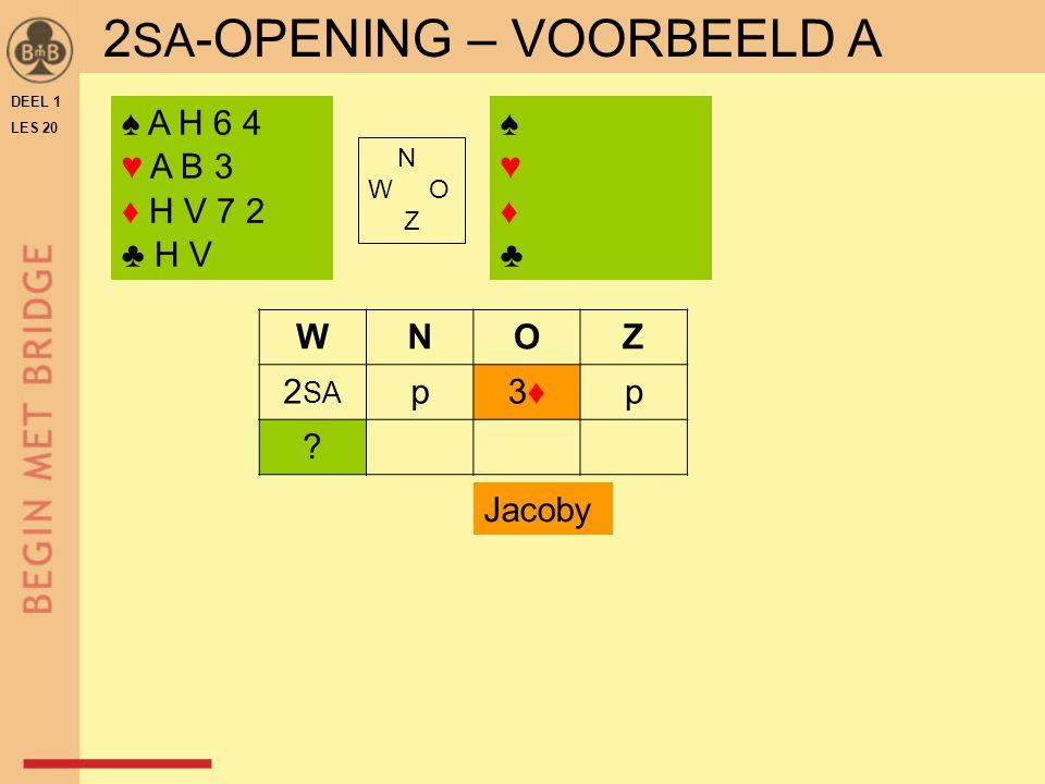 2SA-OPENING – VOORBEELD A