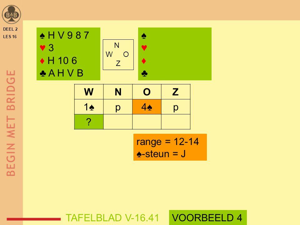 ♠ H V 9 8 7 ♥ 3 ♦ H 10 6 ♣ A H V B ♠ ♥ ♦ ♣ W N O Z 1♠ p 4♠