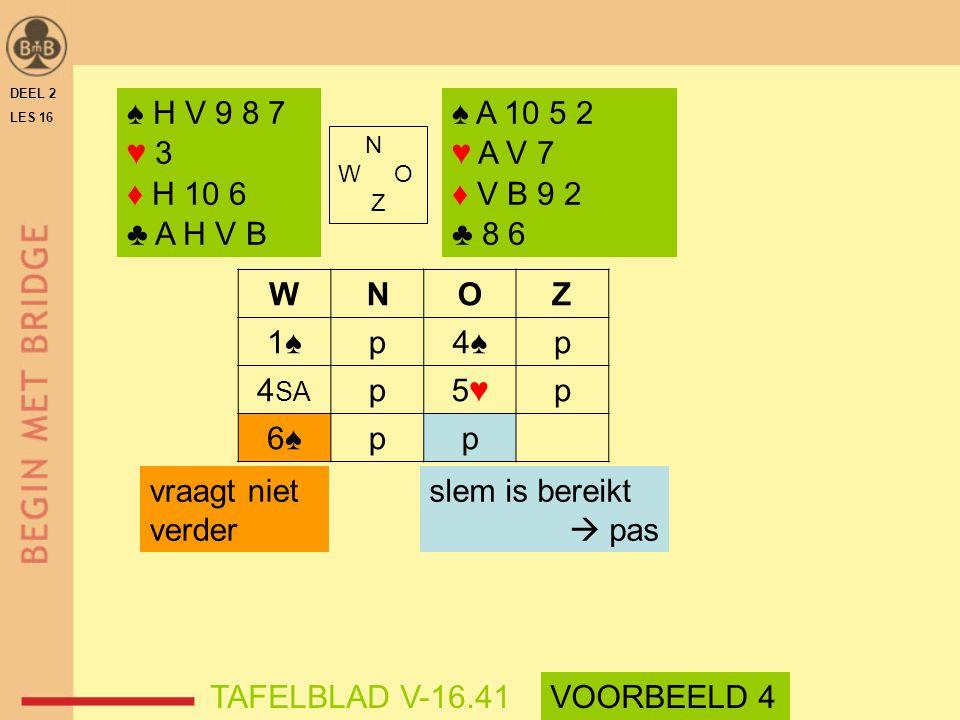 ♠ H V 9 8 7 ♥ 3 ♦ H 10 6 ♣ A H V B ♠ A 10 5 2 ♥ A V 7 ♦ V B 9 2 ♣ 8 6