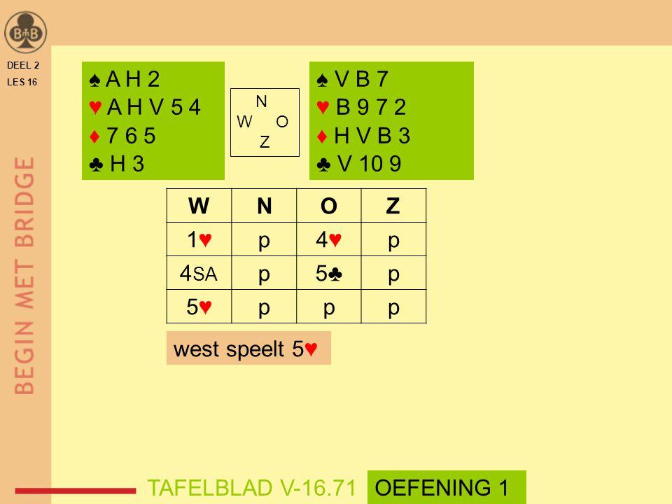 ♠ A H 2 ♥ A H V 5 4 ♦ 7 6 5 ♣ H 3 ♠ V B 7 ♥ B 9 7 2 ♦ H V B 3 ♣ V 10 9