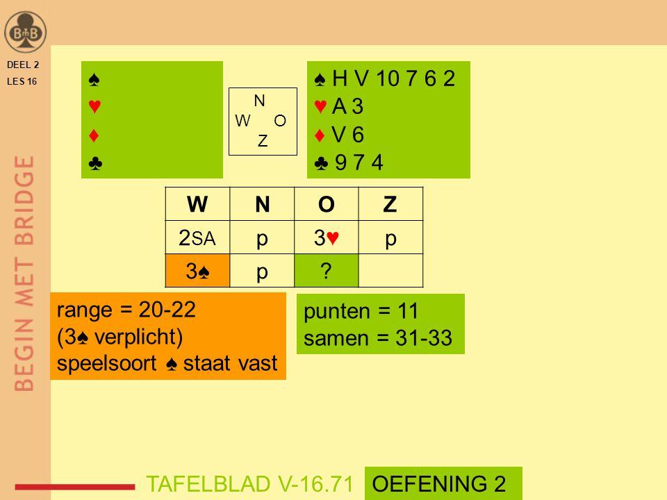 speelsoort ♠ staat vast punten = 11 samen = 31-33
