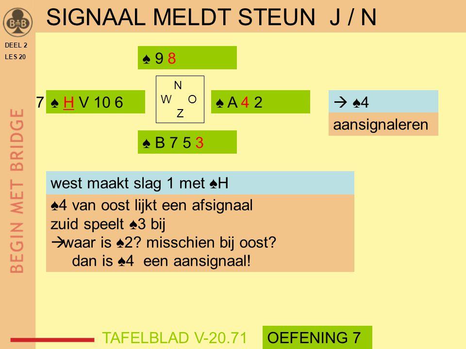 SIGNAAL MELDT STEUN J / N