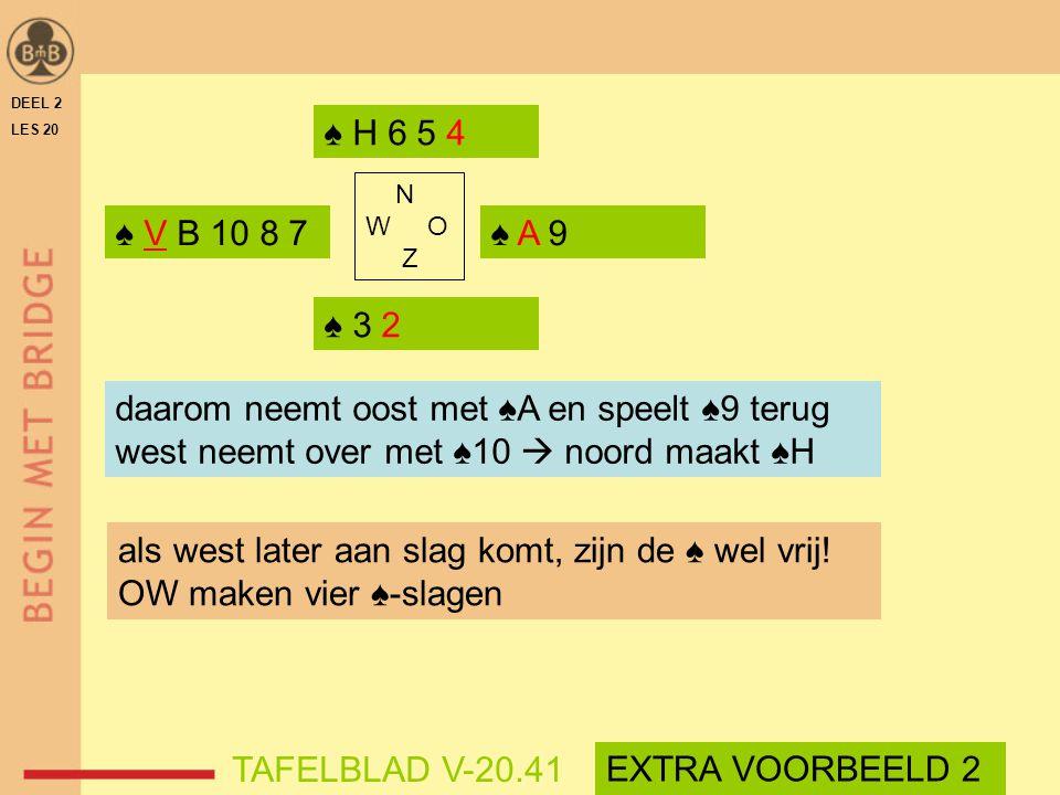 daarom neemt oost met ♠A en speelt ♠9 terug