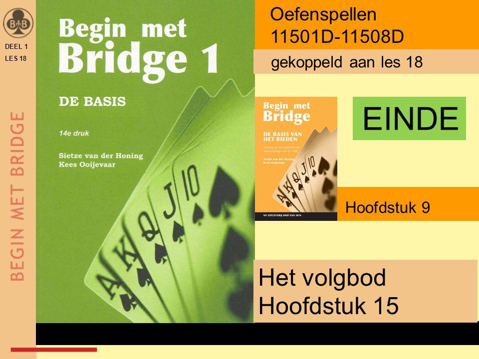 Hoofdstuk 9 Het volgbod Hoofdstuk 15 Oefenspellen 11501D-11508D