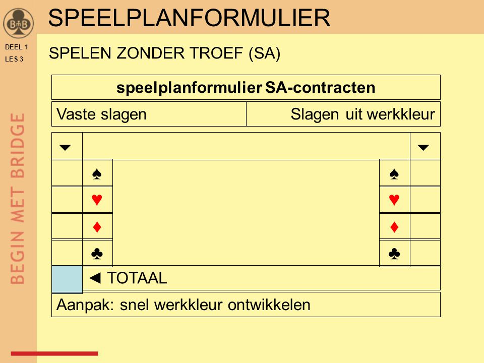 speelplanformulier SA-contracten