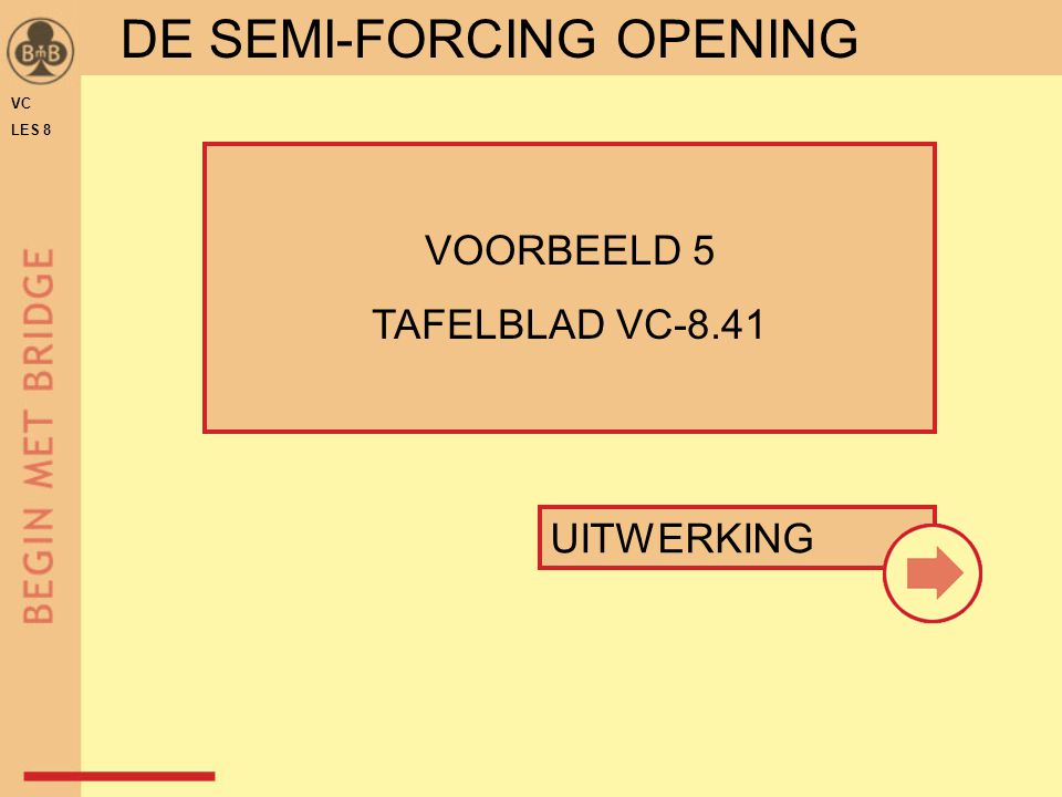 DE SEMI-FORCING OPENING
