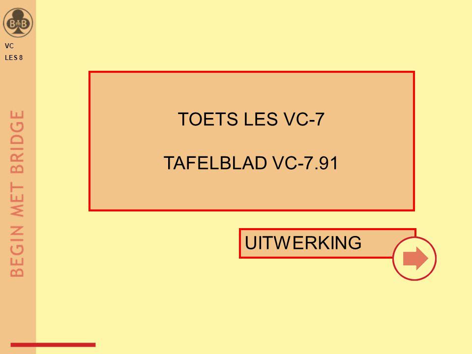 VC LES 8 TOETS LES VC-7 TAFELBLAD VC-7.91 UITWERKING