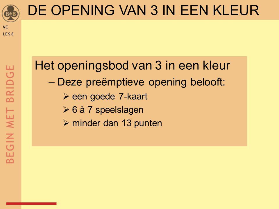 DE OPENING VAN 3 IN EEN KLEUR