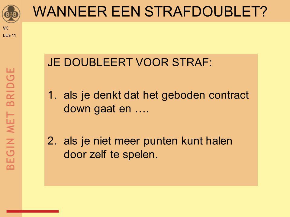 WANNEER EEN STRAFDOUBLET