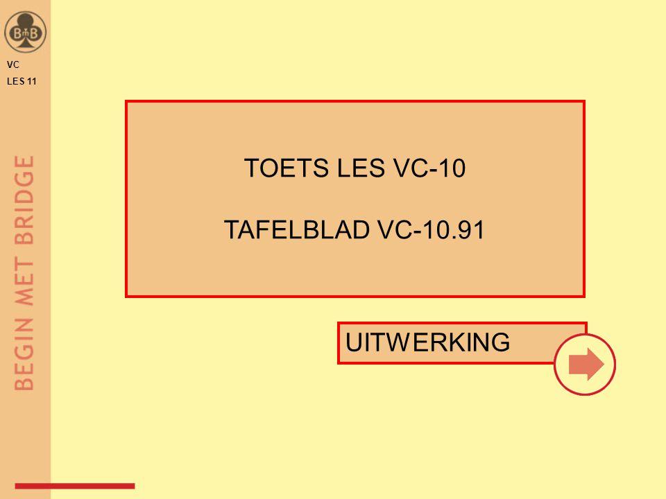 VC LES 11 TOETS LES VC-10 TAFELBLAD VC-10.91 UITWERKING