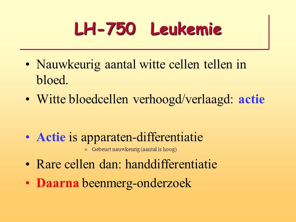 LH-750 Leukemie Nauwkeurig aantal witte cellen tellen in bloed.