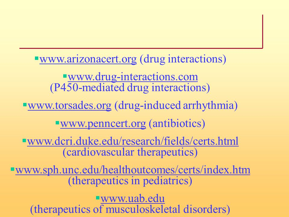 www.arizonacert.org (drug interactions)