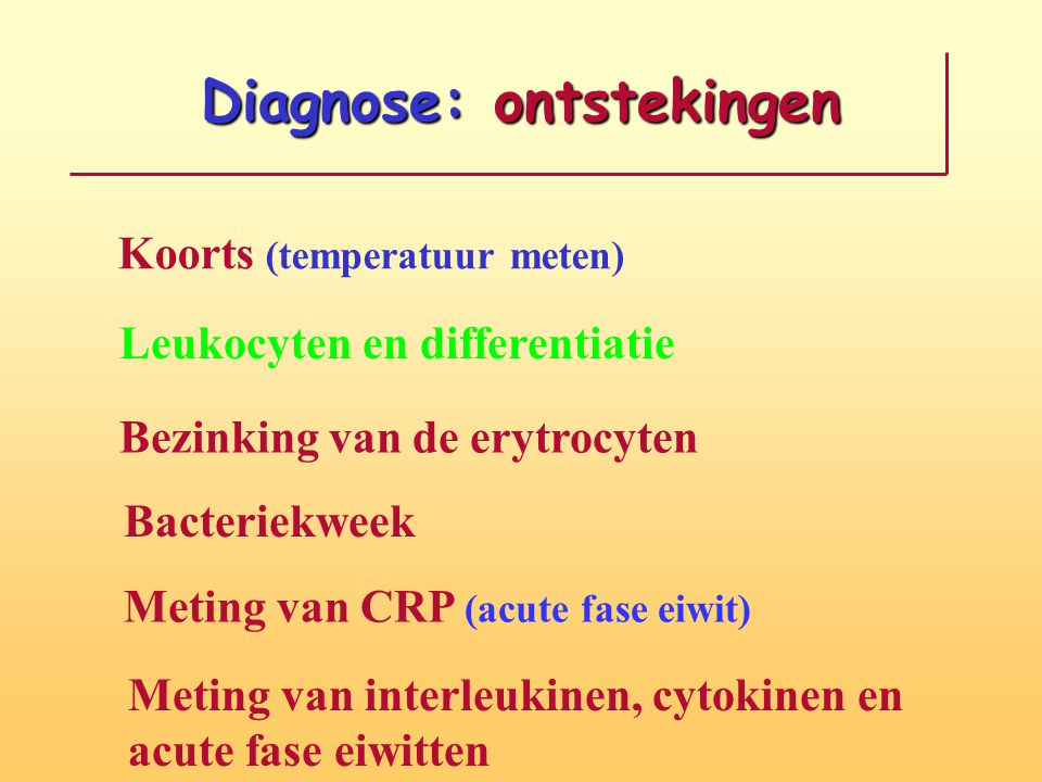 Diagnose: ontstekingen