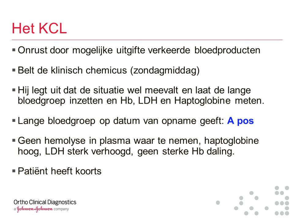 Het KCL Onrust door mogelijke uitgifte verkeerde bloedproducten