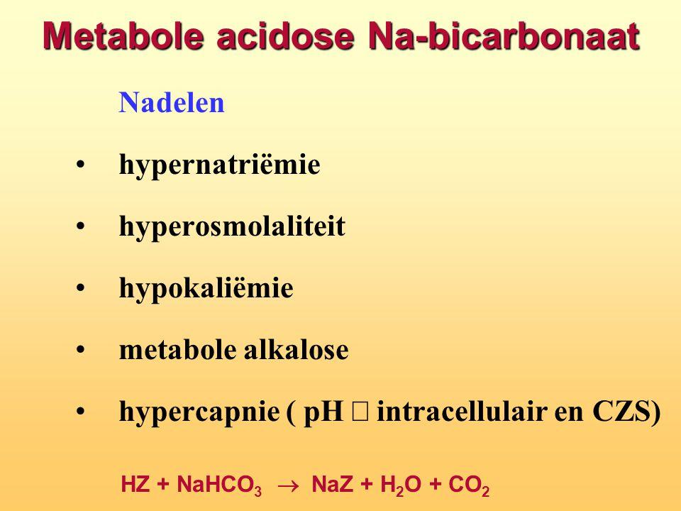 Metabole acidose Na-bicarbonaat