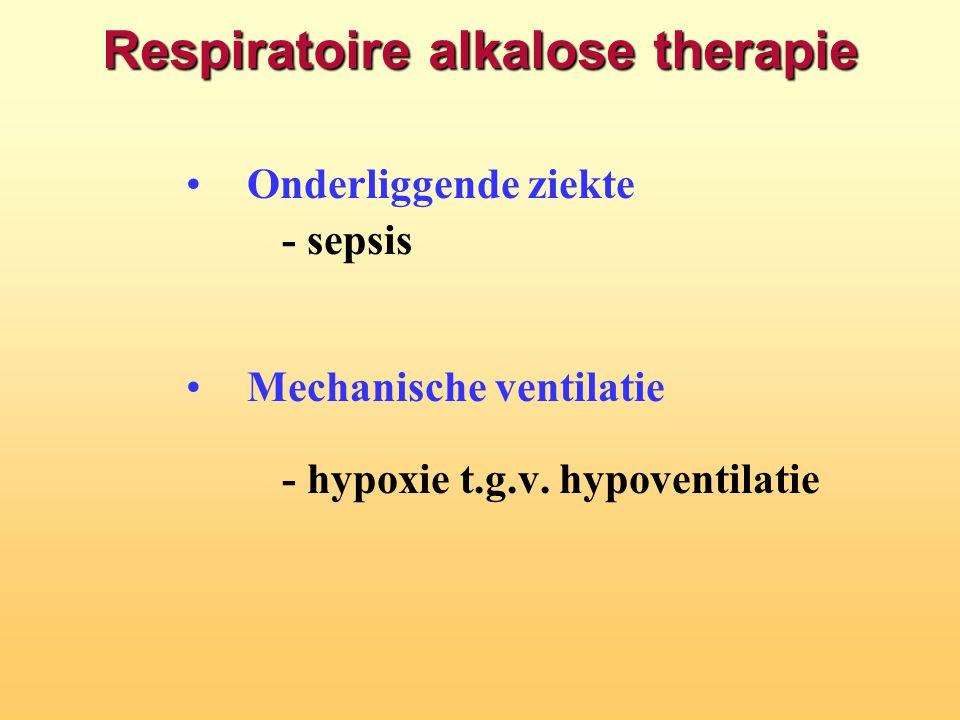 Respiratoire alkalose therapie