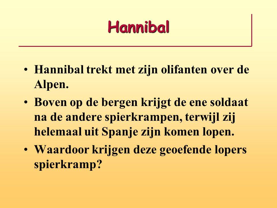 Hannibal Hannibal trekt met zijn olifanten over de Alpen.