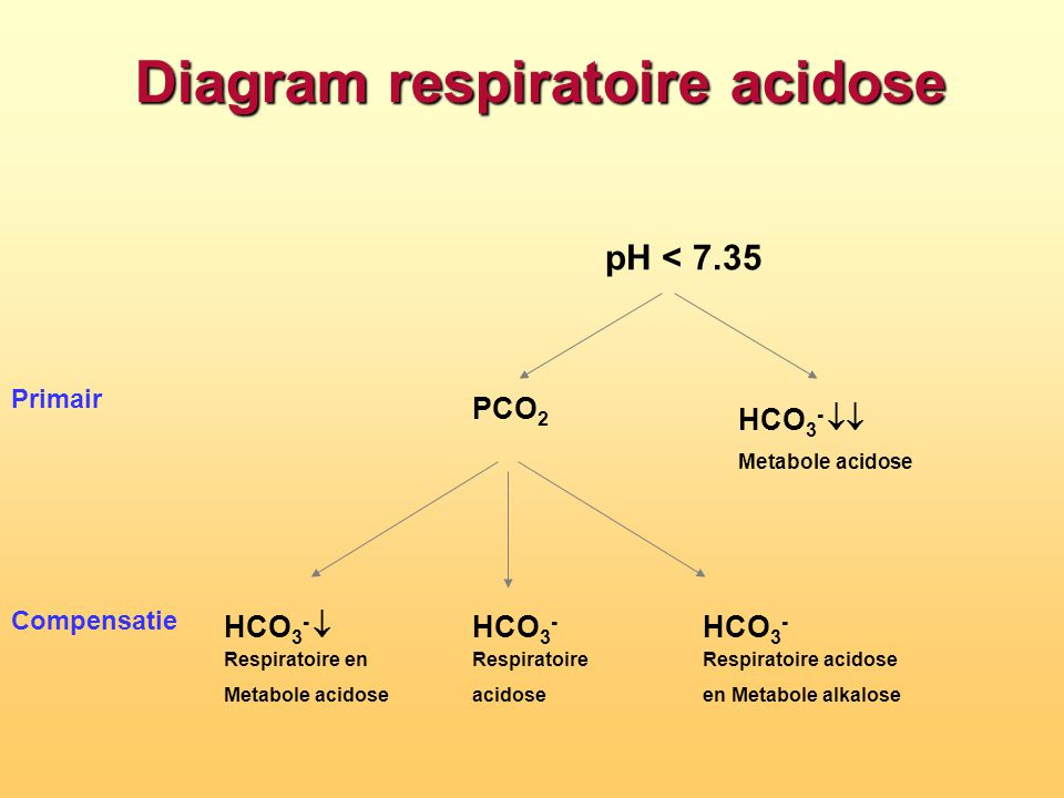 Diagram respiratoire acidose