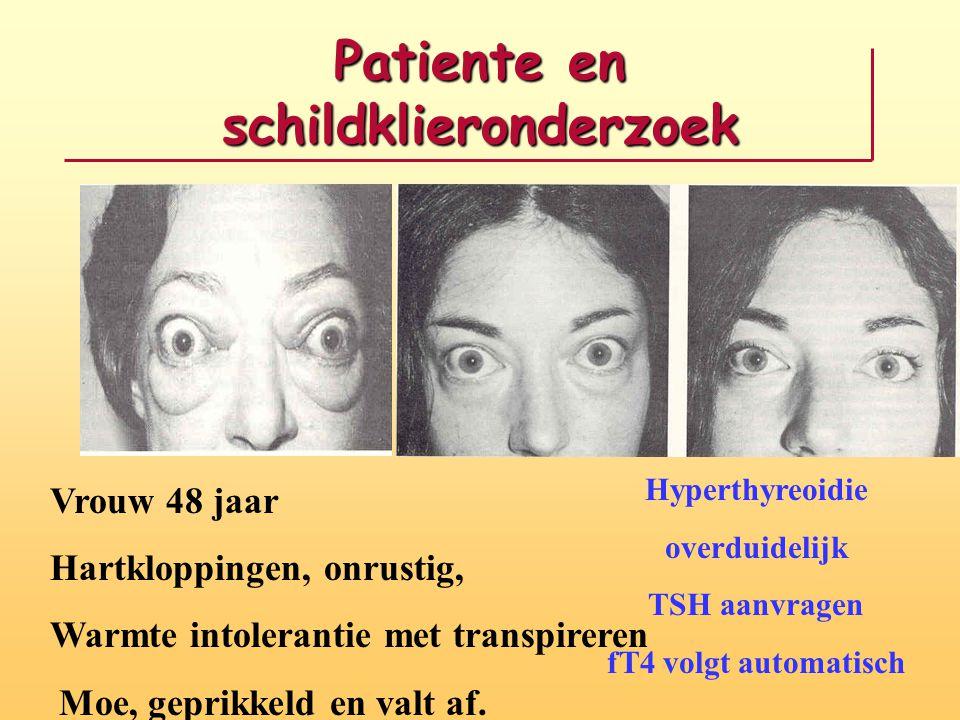 Patiente en schildklieronderzoek