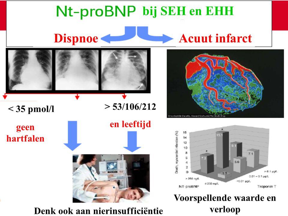 Voorspellende waarde en verloop Denk ook aan nierinsufficiëntie
