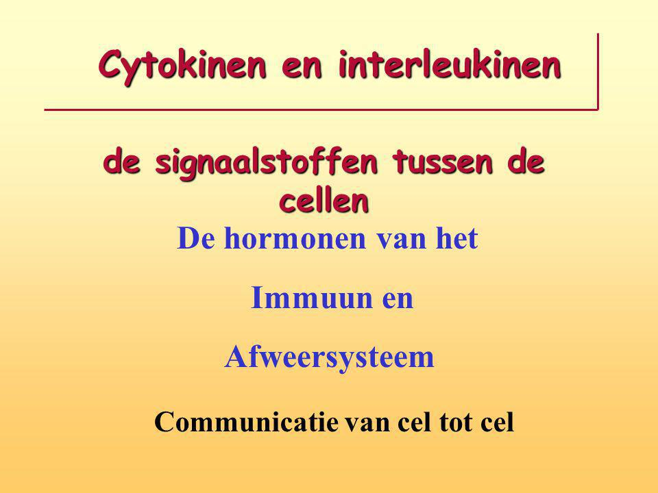 Cytokinen en interleukinen