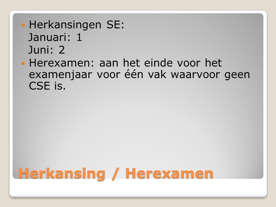 Herkansing / Herexamen