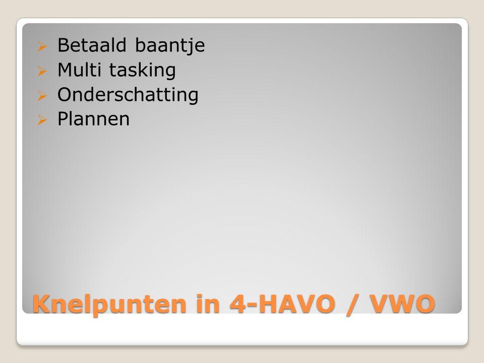 Knelpunten in 4-HAVO / VWO
