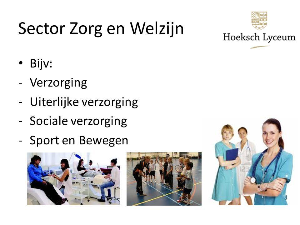 Sector Zorg en Welzijn Bijv: Verzorging Uiterlijke verzorging