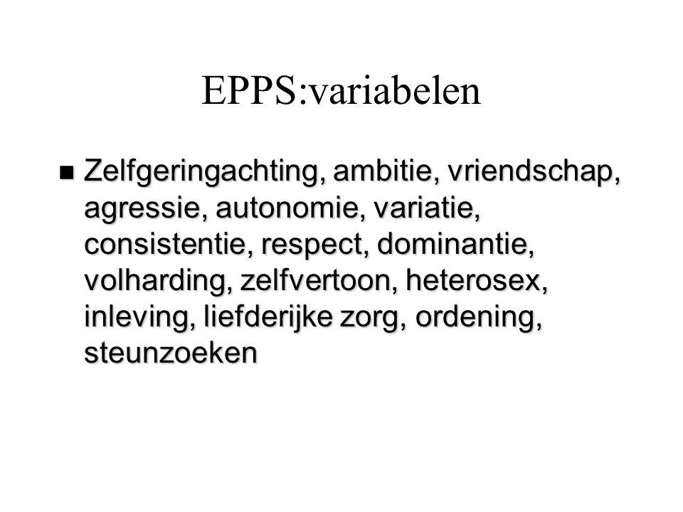 EPPS:variabelen