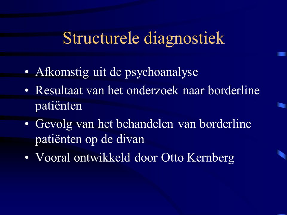 Structurele diagnostiek
