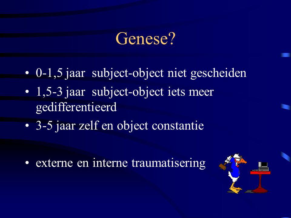 Genese 0-1,5 jaar subject-object niet gescheiden