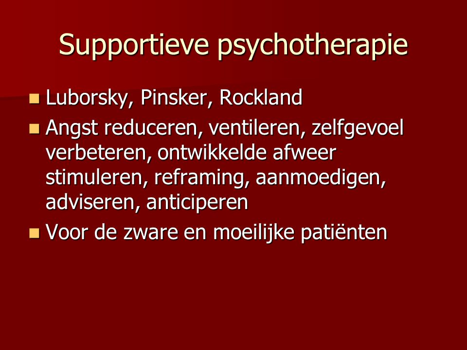 Supportieve psychotherapie