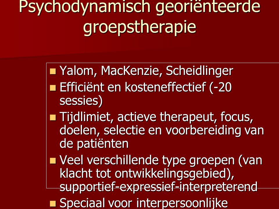 Psychodynamisch georiënteerde groepstherapie