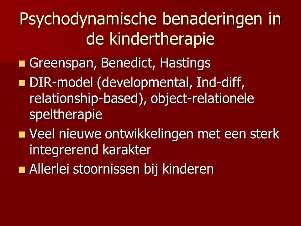 Psychodynamische benaderingen in de kindertherapie