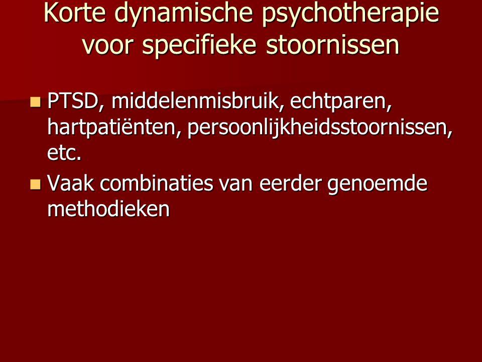 Korte dynamische psychotherapie voor specifieke stoornissen