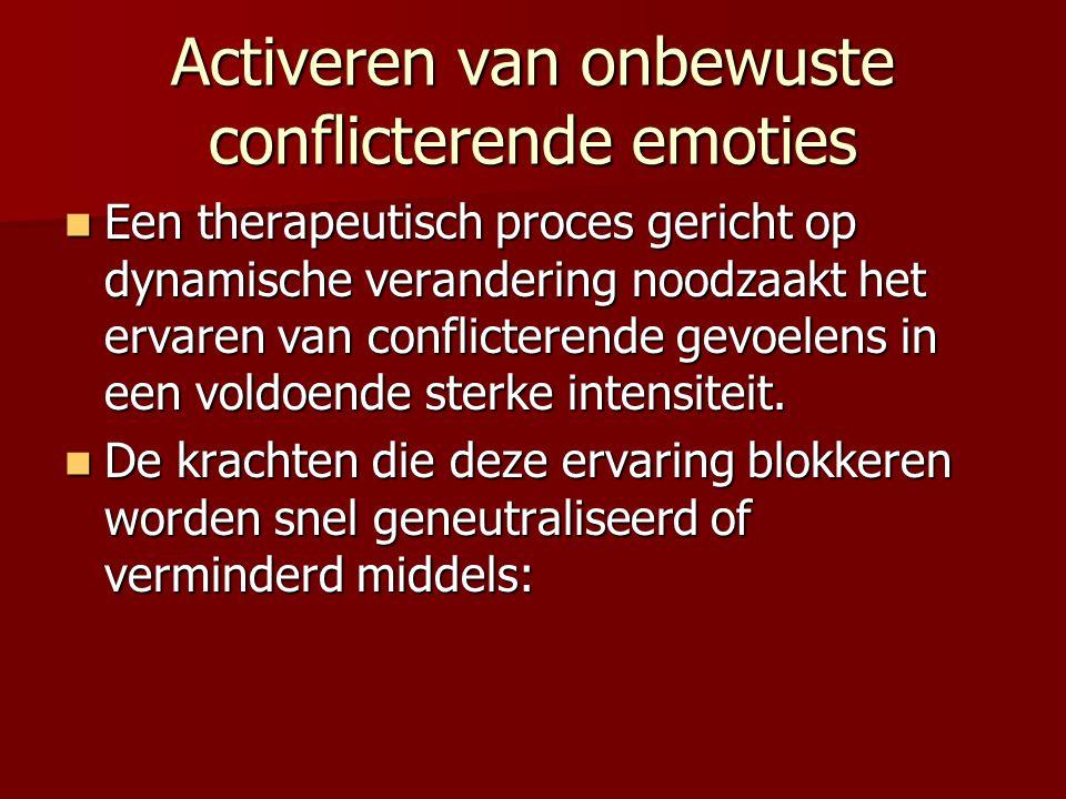 Activeren van onbewuste conflicterende emoties