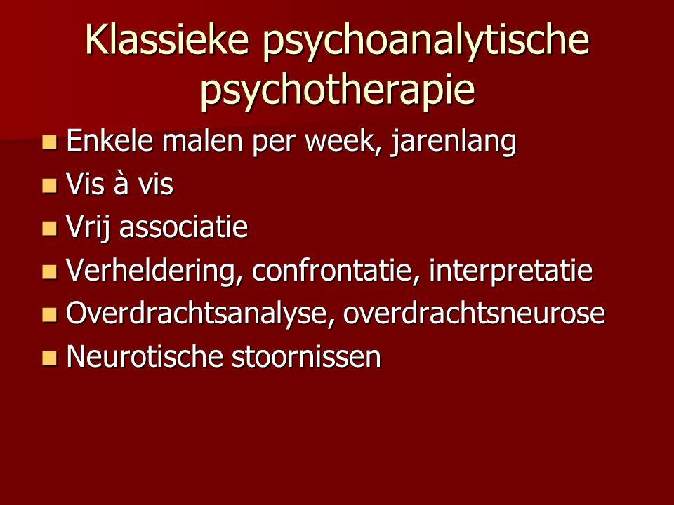 Klassieke psychoanalytische psychotherapie