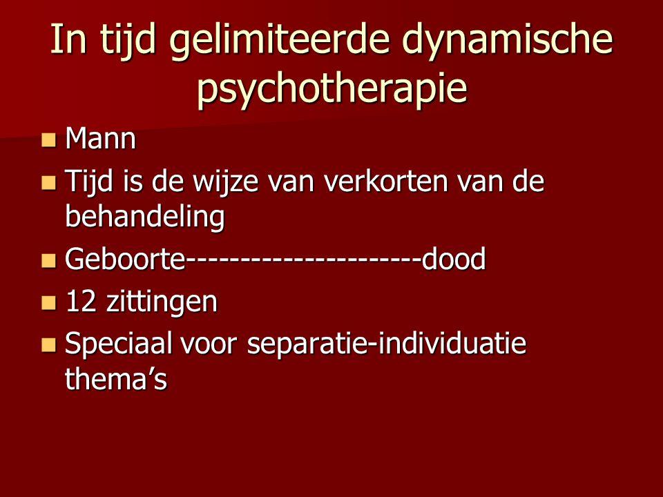 In tijd gelimiteerde dynamische psychotherapie