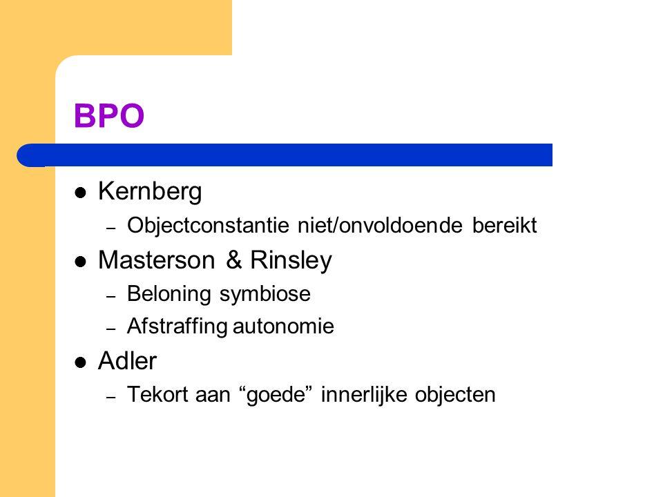 BPO Kernberg Masterson & Rinsley Adler