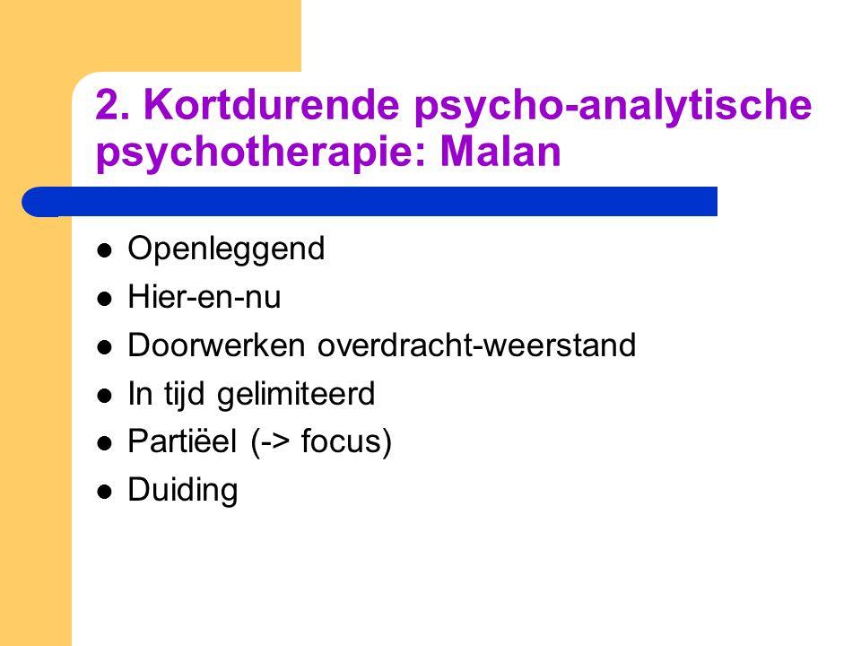 2. Kortdurende psycho-analytische psychotherapie: Malan