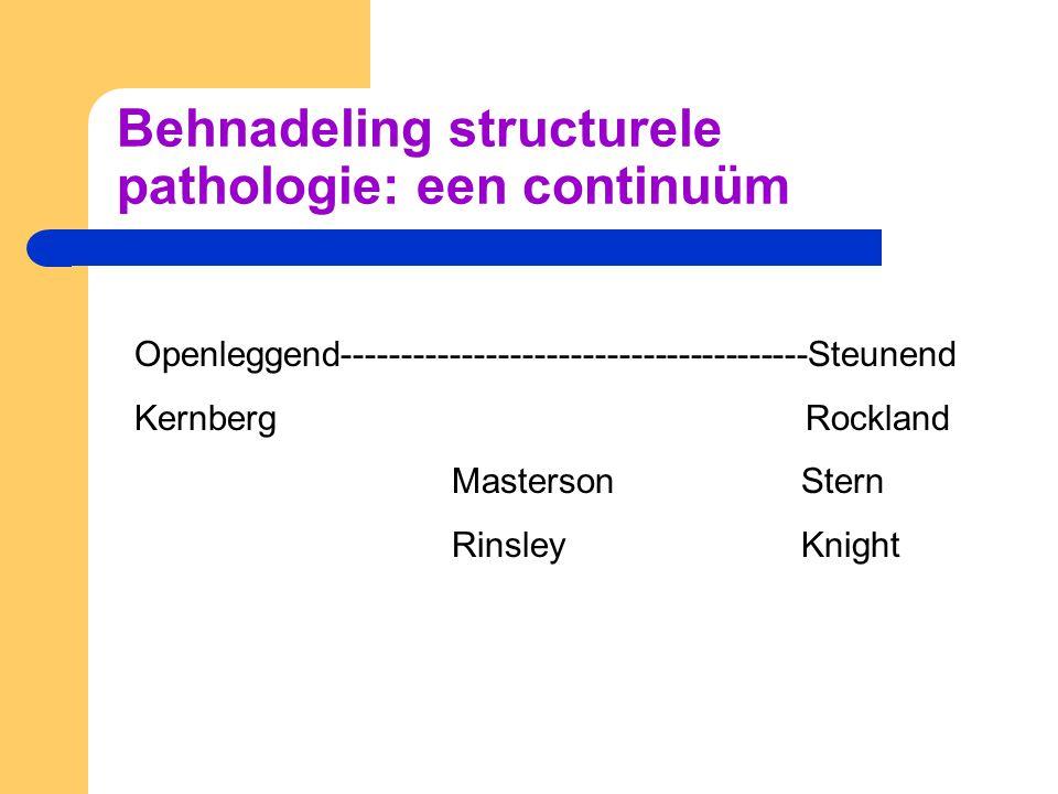 Behnadeling structurele pathologie: een continuüm