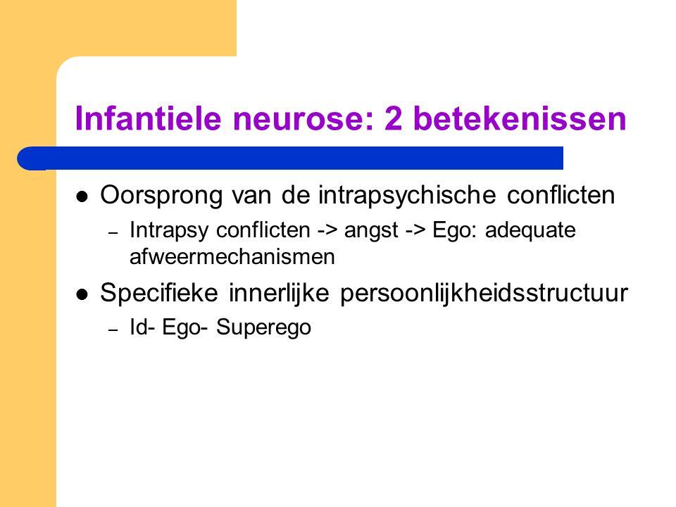 Infantiele neurose: 2 betekenissen