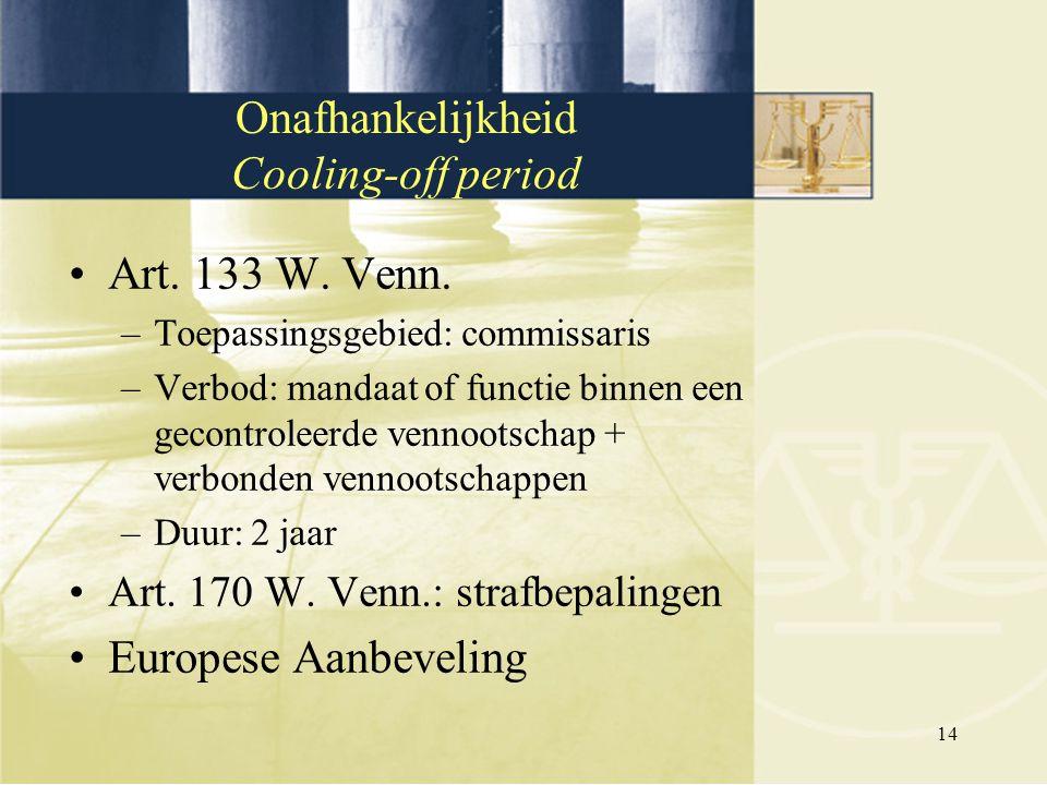 Onafhankelijkheid Cooling-off period