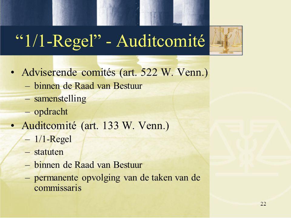 1/1-Regel - Auditcomité